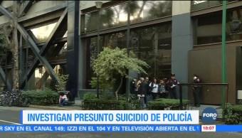 Investigan presunto suicido de policía bancario en la CDMX