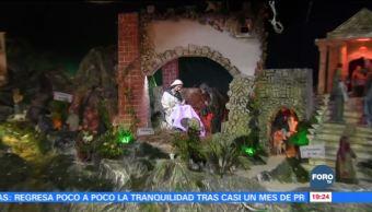 Montan nacimiento monumental en casa de adultos mayores en Mérida