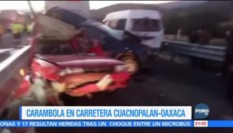 Accidente carretero en la Puebla-Oaxaca deja dos muertos