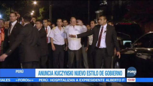 Kuczynski anuncia nuevo estilo de gobierno en Perú