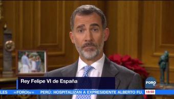 Rey de España llama a recuperar estabilidad y respeto mutuo en Cataluña