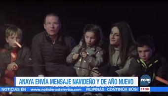 Anaya comparte video con motivo de Navidad y Año Nuevo