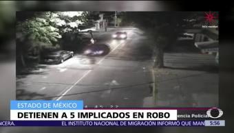Detienen a cinco personas por robo a tienda departamental en Coacalco, Edomex