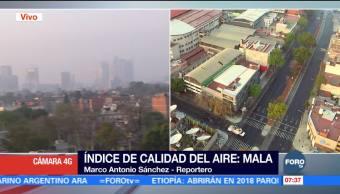 Amanece la Ciudad de México con mala calidad del aire