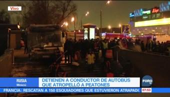 Detienen al conductor del autobús que atropelló a peatones en Moscú