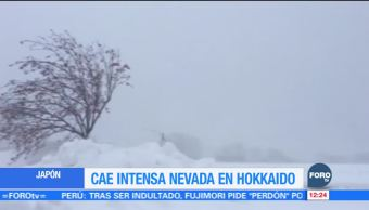 Nevada afecta la isla de Hokkaido, en Japón
