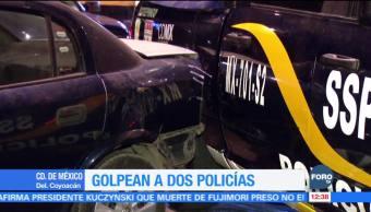 Golpean a dos policías en la delegación Coyoacán, CDMX