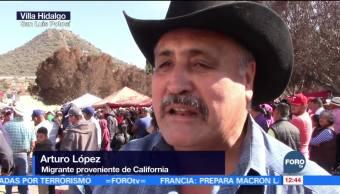 Celebran tradicional carrera de burros en San Luis Potosí