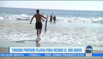 Turistas prefieren playas para recibir el Año Nuevo