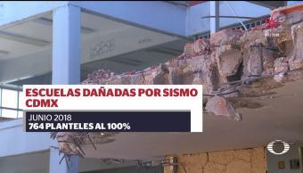 Escuelas afectadas por sismo del 19S estarán listas en junio
