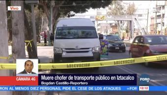 Muere chofer de transporte púbico en Iztacalco por falta de atención médica