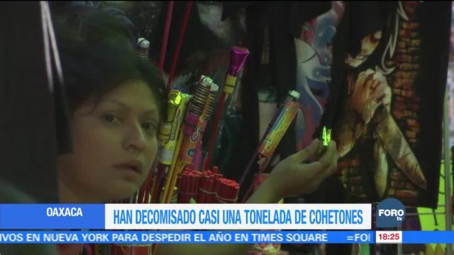 Operativos contra venta de pirotecnia en Oaxaca