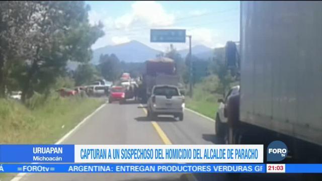 Capturan a un sospechoso del homicidio del alcalde de Paracho