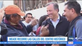 Meade recorre las calles del Centro Histórico de la CDMX