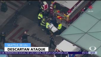 Emergencia médica causó atropellamiento masivo en Seattle