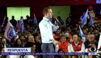 Ricardo Anaya visita Tlalnepantla y arremete contra el PRI por la violencia
