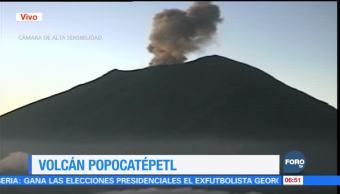 Alerta volcánica del Popocatépetl continúa en Amarillo Fase Dos