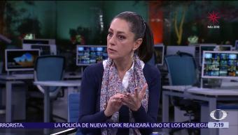 Claudia Sheinbaum, precandidata de Morena al Gobierno CDMX, en Despierta con Loret