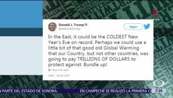 Trump: A Estados Unidos le vendría bien un poco de calentamiento global