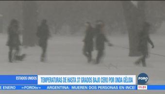 Estados Unidos registra temperaturas de hasta 37 grados bajo cero