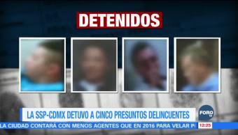 Detienen a 4 hombres por robo a vivienda en Coyoacán
