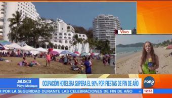 Playa Melaque de Colima registra 36 grados a la sombra