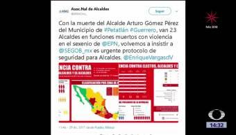 23 presidentes municipales han sido asesinados en México durante este Gobierno