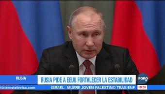 Putin envía felicitación navideña a Trump; aboga por fortalecer la estabilidad