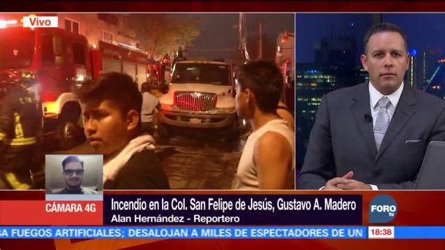 Bomberos Sofocan Incendio Colonia San Felipe Jesús CDMX