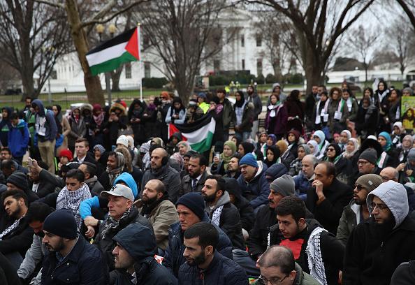 Protestan musulmanes en la Casa Blanca por decisión de Trump sobre Jerusalén