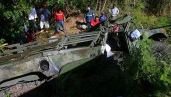 mueren tres militares accidente carretero yucatan
