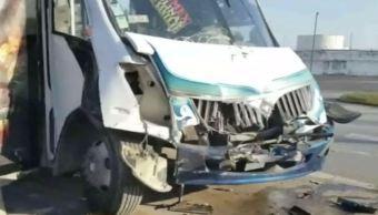 Choque entre autobuses deja 24 personas lesionadas en Veracruz