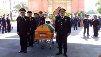 SSPCDMX rinde homenaje a policía asesinado durante asalto