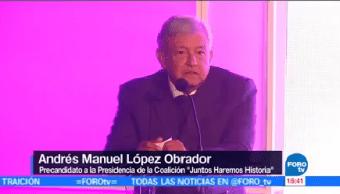Amlo Registra Precandidato Pes Andrés Manuel López Obrador