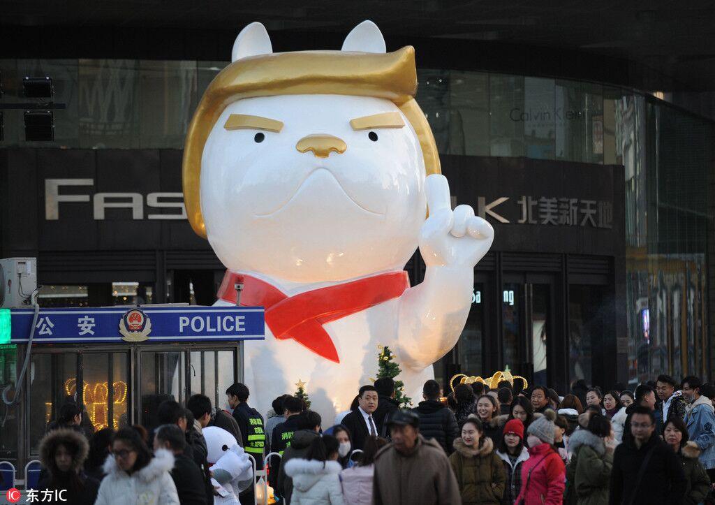 Año del perro en China festeja con imagen de Trump