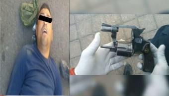 Taxista arrolla a sujeto que intentó asaltarlo en Tláhuac