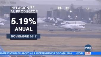 Aumenta Inflación Noviembre Reporta INEGI