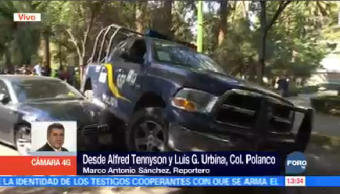 Auto Lujo Choca Contra Camioneta SSP CDMX Polanco