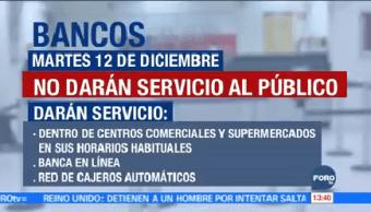 Bancos No Abren 12 Diciembre Día Del Empleado Bancario