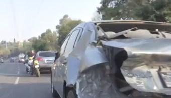 vuelca revolvedora cemento alvaro obregon detienen conductor