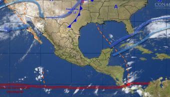 Frente frío 14 provoca lluvias fuertes en Campeche