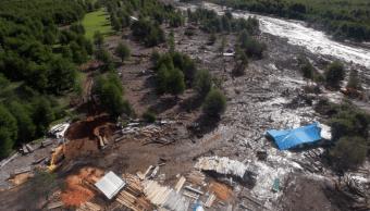 Casas destruidas por alud en Chile. (EFE)