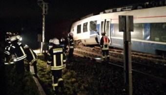 Al menos 50 herido deja choque de dos trenes en Alemania