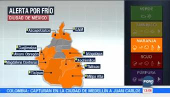 Ciudad México Activa Alerta Naranja Frío