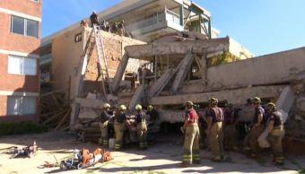 demolicion edificios colegio rebsamen bomberos trabajos