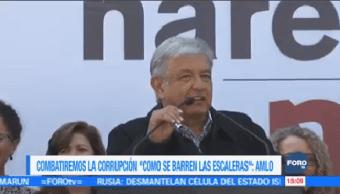 Combatiremos Corrupción Como Barren Escaleras Amlo Andrés Manuel López Obrador