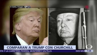 Comparan a Trump con Winston Churchill por odio de opositores