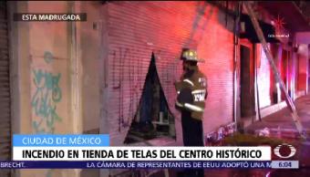 Conato Incendio Centro Cdmx Tienda De Telas