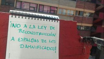 damnificados rechazan ley reconstruccion ciudad mexico
