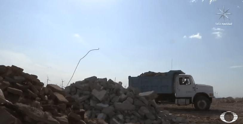 Depósito de escombro en Juchitán, Oaxaca